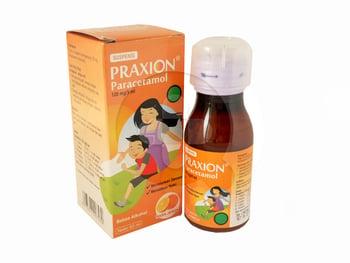 Praxion sirup adalah obat penurun demam dan pereda nyeri