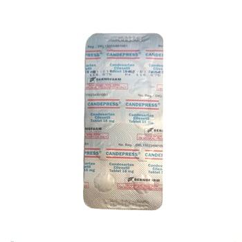 Candepress Tablet adalah obat yang mengandung candesartan cilexetil 16 mg.