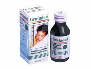 Grafadon sirup berguna untuk menurunkan demam dan mengurangi nyeri tingkat ringan hingga sedang