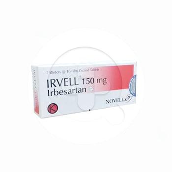 Irvell Tablet adalah obat untuk terapi tekanan darah tinggi (hipertensi).
