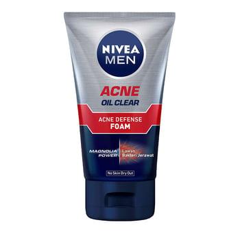 Nivea Men Oil Control Acne Clear Foam 100 ml harga terbaik 23630