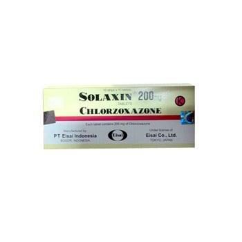 Solaxin Tablet adalah obat untuk kram yang nyeri pada gangguan muskular (nyeri punggung, sindroma servikal, periartritis pada bahu dan spondilitis deformans)