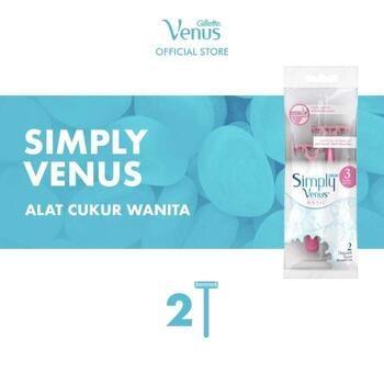 Gillette Venus Alat Cukur Wanita Simply Venus Basic Isi 2 Pisau Cukur