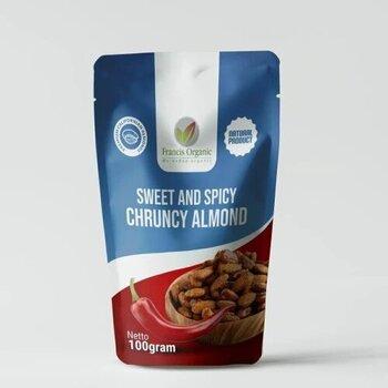 Francis Organic Sweet and Spicy Crunchy Almond 100 g harga terbaik 35000