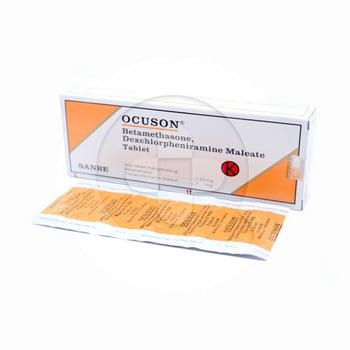 Ocuson tablet adalah obat untuk membantu mengobati alergi dan peradangan
