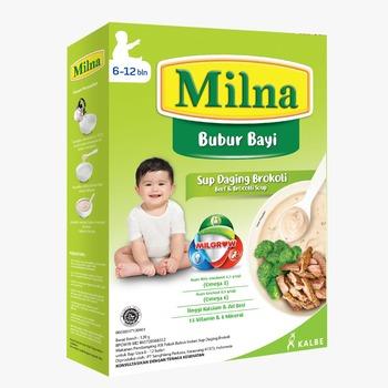 Milna Bubur Reguler 6 Bulan Sup Daging Brokoli 120 g