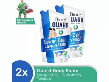 BIORE Body Foam Energetic Cool Pouch 450mL Twinpack harga terbaik 47600
