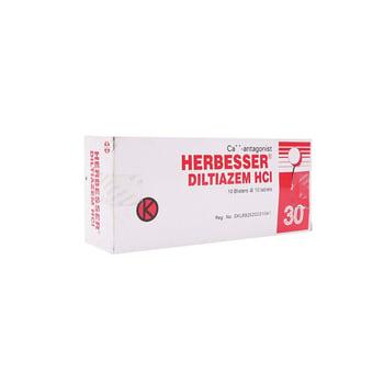 Herbesser Tablet adalah obat untuk tekanan darah tinggi ringan-sedang dan penyakit jantung koroner.