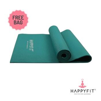 Happyfit Yogamat PVC Polos 6 mm Teal Green + Tas harga terbaik 150000