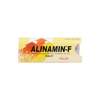 Alinamin-F Tablet adalah suplemen untuk memenuhi kebutuhan harian vitamin B1 dan B2.