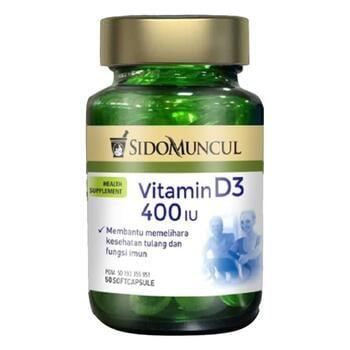 Sido Muncul Natural Vitamin D3 400 IU Soft Capsule  harga terbaik 125000
