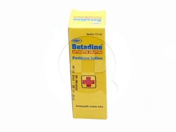 Betadine Larutan Antiseptik 15 mL harga terbaik 12810