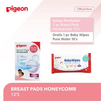 Pigeon Breast Pad 12'S Free Wipes Pure Water 10'S harga terbaik