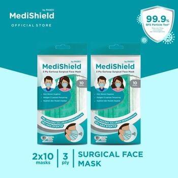 Medishield by Paseo Masker Surgical Earloop 3Ply  harga terbaik 41000