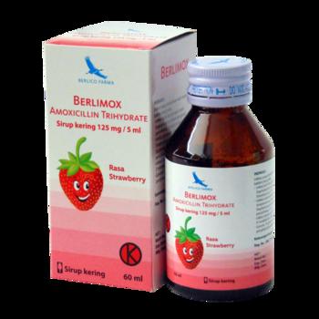 Berlimox sirup kering adalah obat untuk mengatasi infeksi pada kulit dan jaringan lunak, infeksi pernafasan, infeksi saluran cerna dan kencing nanah