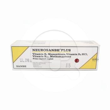 Neurosanbe Plus kaplet adalah obat untuk menjaga kesehatan saraf dan mengatasi nyeri