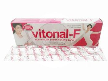 Vitonal F Kapsul digunakan sebagai multivitamin pada keadaan kurang darah (anemia).