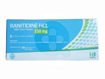 Ranitidine Hexpharm Tablet 150 mg  harga terbaik