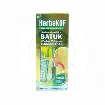 Herbakof Sirup 15 mL  harga terbaik 13300