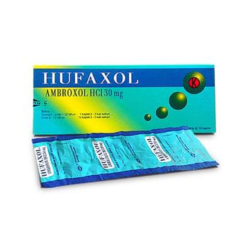 Hufaxol Kaplet adalah obat untuk pengencer dahak pada gangguan saluran nafas akut.