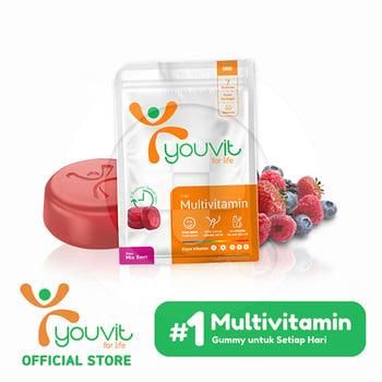 Youvit Multivitamin Gummy Dewasa 7 Days - 7pcs harga terbaik 16900