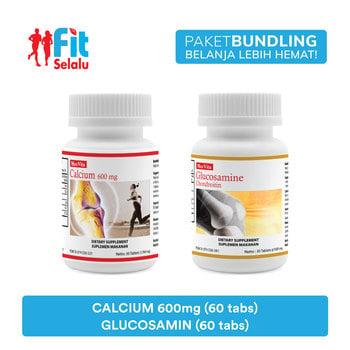 Paket Maxvita Calcium 600mg 60 Tablet & Maxvita Glucosamine Chondroitin 60 Tablet harga terbaik 383400