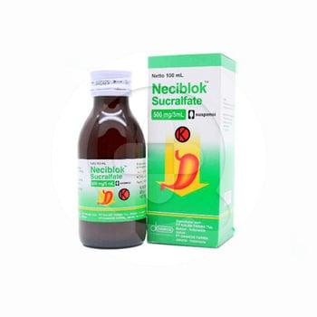 Neciblok suspensi adalah obat untuk pengobatan tukak duodenum jangka pendek (maksimal 8 minggu)
