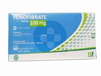 Fenofibrate Hexpharm Kapsul 100 mg  harga terbaik 22018