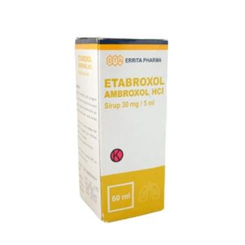 Etabroxol sirup adalah obat yang digunakan untuk mengatasi gangguan saluran pernapasan yang terkait dengan lendir kental.