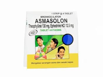 Asmasolon tablet adalah obat untuk membantu meringankan sesak napas akibat asma dan bronkitis