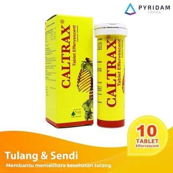 Caltrax Tablet Effervescent (1 Tube @ 10 Tablet) - Suplemen Tulang