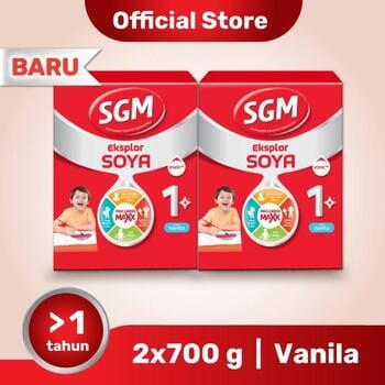 Paket 2 - SGM Eksplor SOYA Susu Pertumbuhan 1-5 Tahun Vanila 700 g harga terbaik