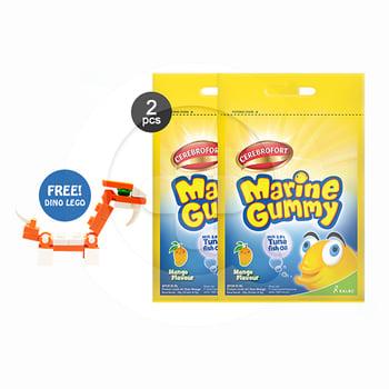 Buy 2 Cerebrofort Marine Gummy Mangga Free Mini Block harga terbaik