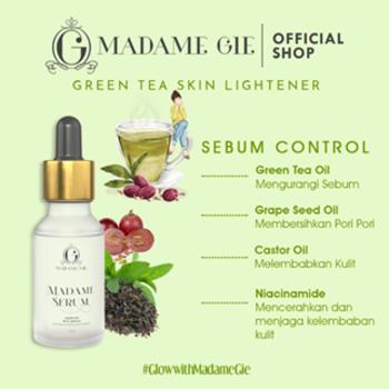 Madame Gie Madame Face Serum - Face Serum Green Tea Skin Lightener