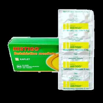 Histigo kaplet adalah obat yang digunakan untuk mengobati vertigo, tinitus, dan penyakit Meniere