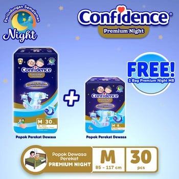 Confidence Popok Dewasa Premium Night M 30 FREE Premium Night M 8 harga terbaik
