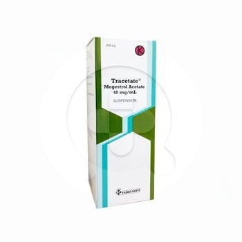 Tracetate suspensi digunakan untuk mengatasi kondisi kehilangan nafsu makan (anoreksia).