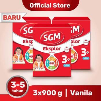 Paket 3 - SGM Eksplor 3 Plus Susu Pertumbuhan 3-5 Tahun Vanila 900 g harga terbaik