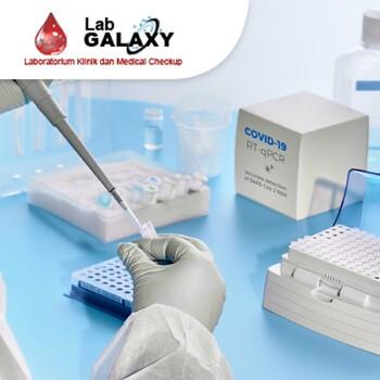 PCR Swab Test COVID 19 di Laboratorium Klinik Galaxy, Bekasi