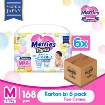 Merries Baby Diaper Pants M 28's - 1 Karton harga terbaik 703843