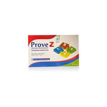 Prove Z Kaplet adalah campuran multivitamin dan mineral yang dapat membantu memelihara kesehatan