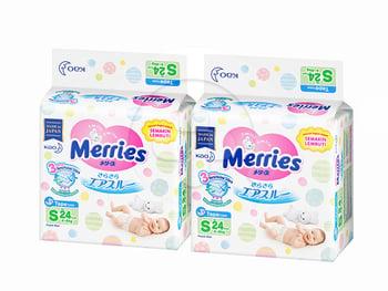 MERRIES Baby Diapers S 24S Twinpack harga terbaik 155600