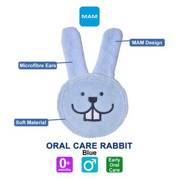 MAM Oral Care Rabbit Rabitt 0+ Months - Blue harga terbaik 112123
