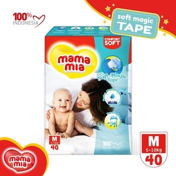 Mamamia Baby Diapers Soft Magic Tape M40 harga terbaik 54500