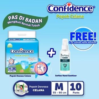 Confidence Popok Celana M 10 BUY 1 GET Hand Sanitizer Spray harga terbaik
