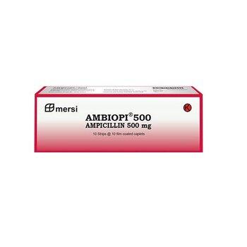 Ambiopi Kaplet adalah obat yang mengandung ampisilin trihidrat 500 mg.