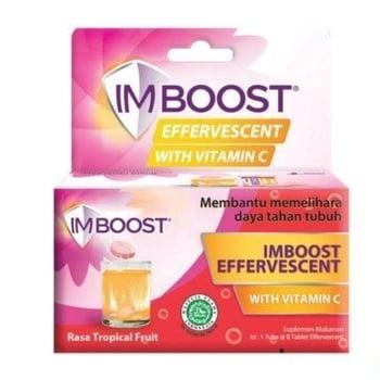 Imboost Effervescent Rasa Tropical Fruit adalah obat untuk membantu memelihara daya tahan tubuh.