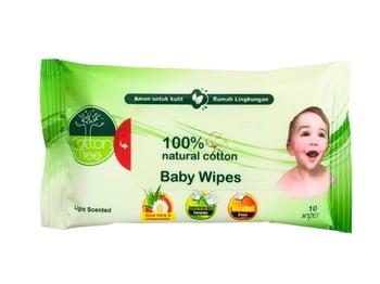 CottonTree Baby Wipes Light Scented 10s harga terbaik 7300