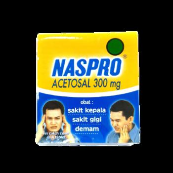 Naspro tablet adalah obat untuk mengatasi sakit kepala, sakit gigi, dan demam