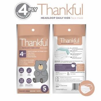 Thankful Face Mask Kid Headloop Daily  harga terbaik 12000